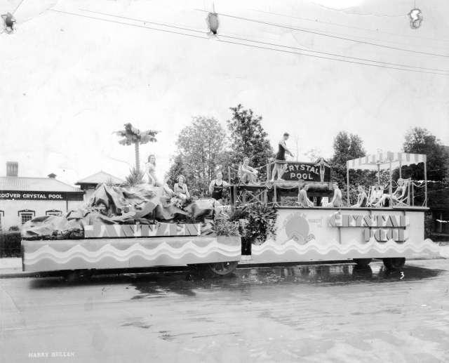 CVA 180-5042 - Crystal Pool parade float 1928 Harry Bullen photo