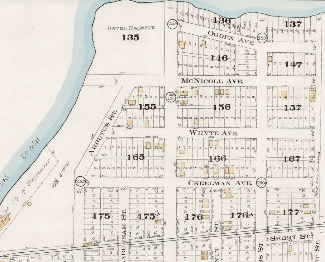 1912 Goads Map Showing Kits CPR Hotel REserve. McNicoll and Maple.